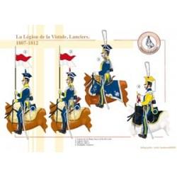 La Légion de la Vistule, Lanciers, 1807-1812