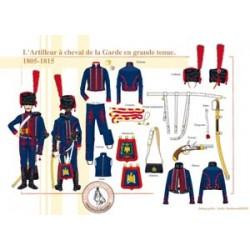 L'Artilleur à cheval en grande tenue, 1805-1815