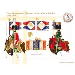 Porte-étendard des Chasseurs à cheval de la Garde, 1804-1815