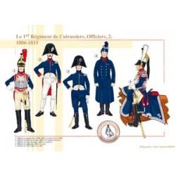 Das 1. Regiment der französischen Kürassiere, Offiziere (2), 1806-1815