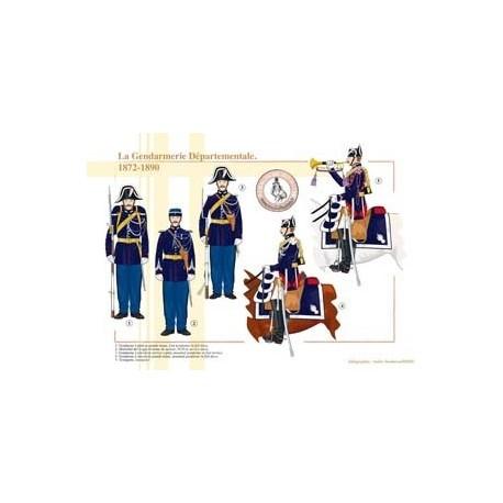 The French Departmental Gendarmerie, 1872-1890
