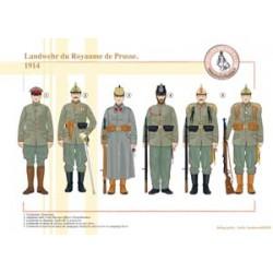 Landwehr du Royaume de Prusse, 1914