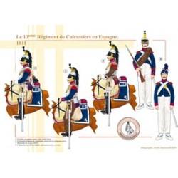 Das 13. Régiment de Cuirassiers in Spanien, 1811