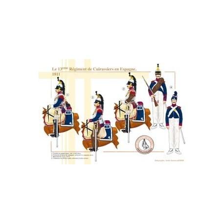 The 13th Régiment de Cuirassiers in Spain, 1811