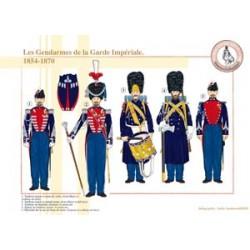 Die Gendarmen der französischen kaiserlichen Garde, 1854-1870