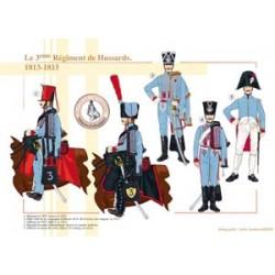 Le 3ème Régiment de Hussards, 1813-1815