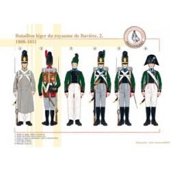 Bataillon léger du royaume de Bavière (2), 1808-1811