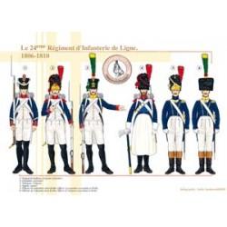 Das 24. französische Linieninfanterie-Regiment, 1806-1810