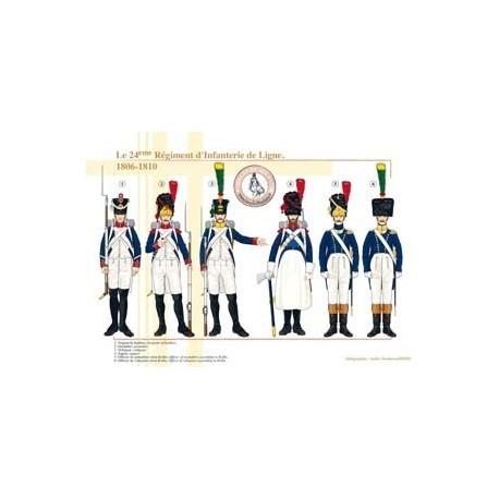 Le 24ème Régiment d'Infanterie de Ligne, 1806-1810