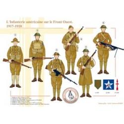 Amerikanische Infanterie an der Westfront, 1917-1918