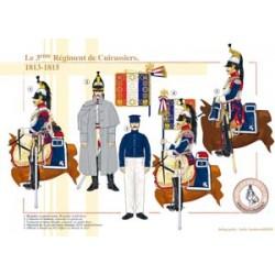 Le 3ème Régiment de Cuirassiers, 1813-1815