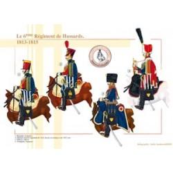 Das 6. französische Husarenregiment, 1813-1815