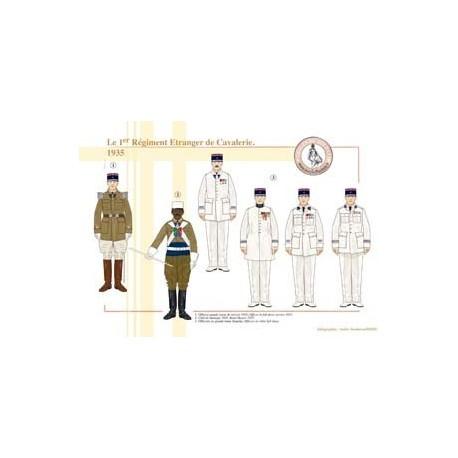 Le 1er Régiment Étranger de Cavalerie, 1935