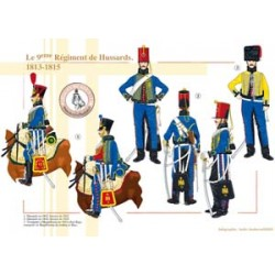 The 9th French Hussar Regiment, 1813-1815