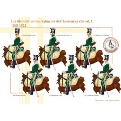 The distinctive features of the Chasseurs à cheval regiments (2), 1815-1822