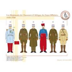 African Chasseurs Regiments, Unteroffiziere, 1930-1940