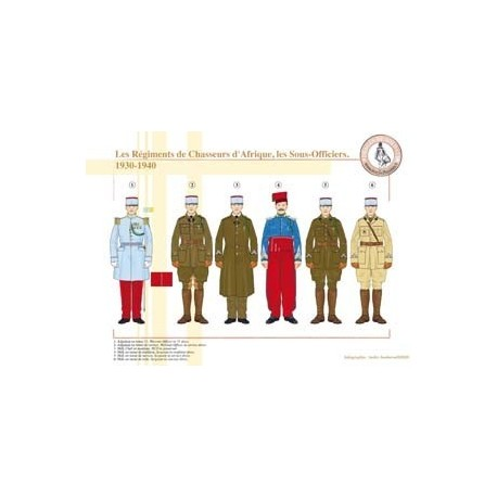 African Chasseurs Regiments, NCOs, 1930-1940