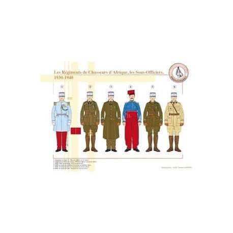 Les Régiments de Chasseurs d'Afrique, les Sous-Officiers, 1930-1940