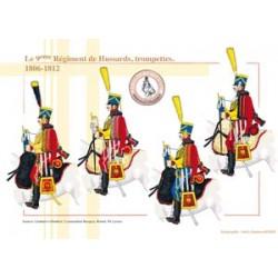 Le 9ème Régiment de Hussards, trompettes, 1806-1812