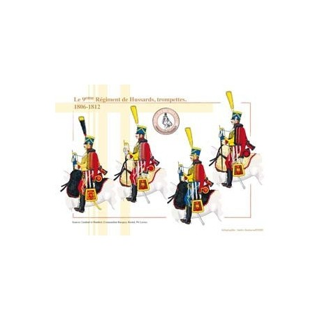 The 9th French Hussar Regiment, trumpets, 1806-1812