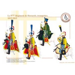 The 9th French Hussar Regiment, trumpets, 1812-1815