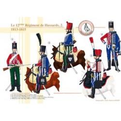 Das 12. französische Husarenregiment (2), 1813-1815
