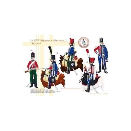 Le 12ème Régiment de Hussards (2), 1813-1815
