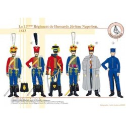 Das 13. Regiment der Husaren Jérôme Napoléon, 1813
