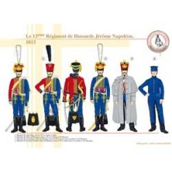 Le 13ème Régiment de Hussards Jérôme Napoléon, 1813