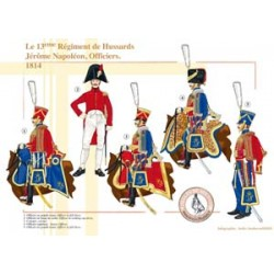 The 13th Regiment of Hussars Jérôme Napoléon, Officers, 1814