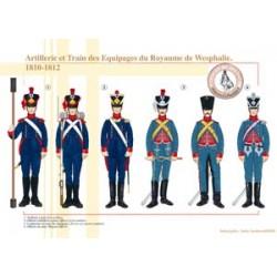 Artillerie- und Mannschaftszug des Königreichs Westfalen, 1810-1812