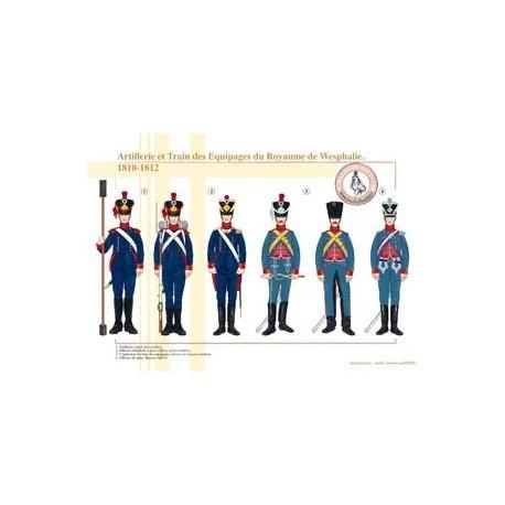 Artillerie et Train des Equipages du Royaume de Westphalie, 1810-1812