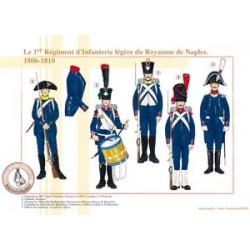 Le 1er Régiment d'Infanterie légère du Royaume de Naples, 1806-1810