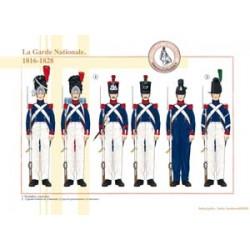 La Garde Nationale, 1816-1828