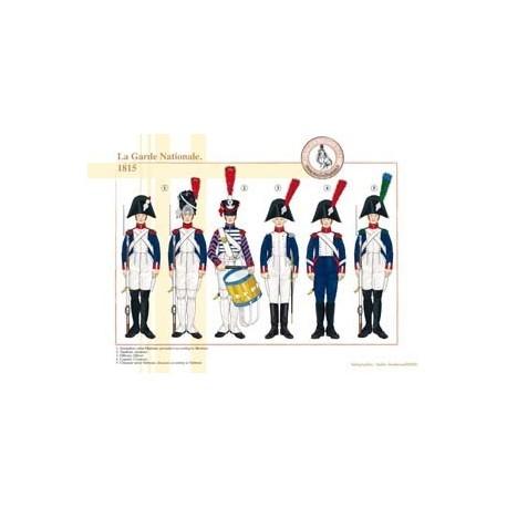 La Garde Nationale française, 1815