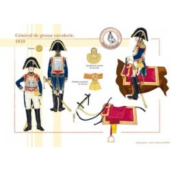 French general of heavy cavalry, 1810