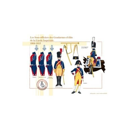 Les Sous-officiers des Gendarmes d'élite de la Garde Impériale, 1804-1815