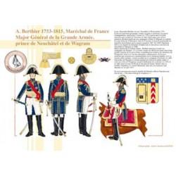 A. Berthier, 1753-1815, Marschall von Frankreich, Generalmajor der Grande Armée, Prinz von Neuenburg und von Wagram