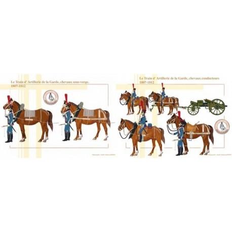 Le Train d'Artillerie de la Garde, chevaux sous-verge et chevaux conducteurs, 1807-1812
