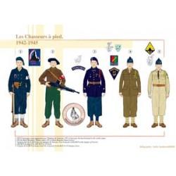Die französischen Fußjäger, 1942-1945