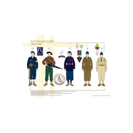 Les Chasseurs à pied, 1942-1945