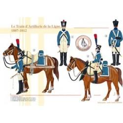Le Train d'Artillerie de la Ligne, 1807-1812