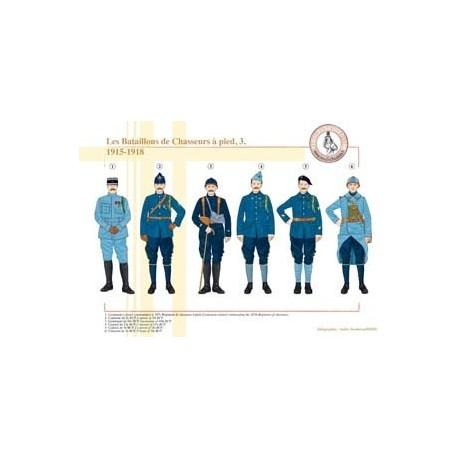 Les Bataillons de Chasseurs à pied (3), 1915-1918