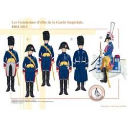 Die Elite-Gendarmen der französischen kaiserlichen Garde, 1804-1815