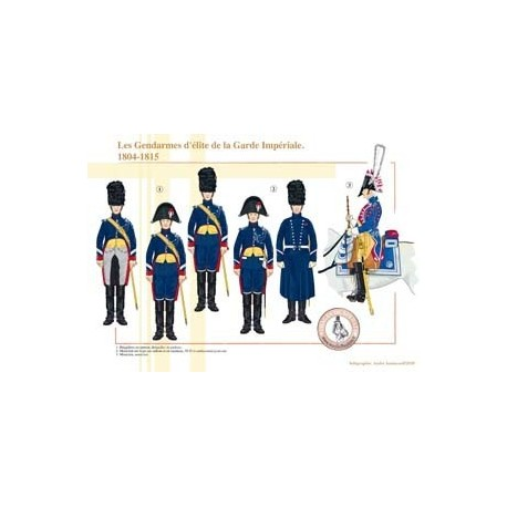 The elite gendarmes of the French Imperial Guard, 1804-1815