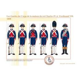 Les Gardes du Corps de la maison du roi Charles IV et Ferdinand VII, 1808