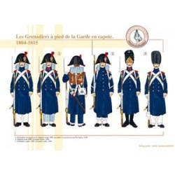 Die Grenadiere zu Fuß der französischen kaiserlichen Garde in einem Capote, 1804-1815