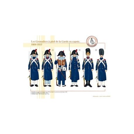 The Grenadiers on foot of the French Imperial Guard in a capote, 1804-1815