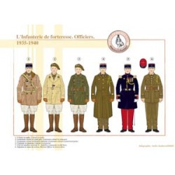 Fortress Infantry, Officers, 1935-1940