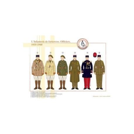 L'Infanterie de forteresse, Officiers, 1935-1940